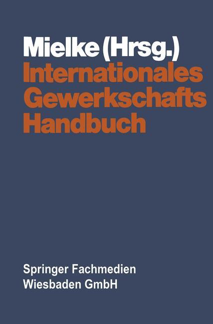Cover of 'Internationales Gewerkschaftshandbuch'