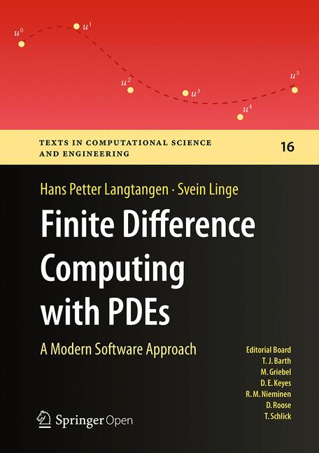 Cover of 'Finite Difference Computing with PDEs'