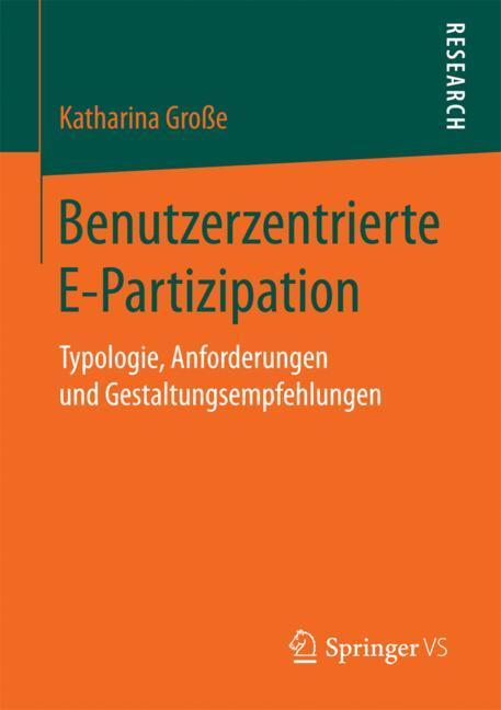 Cover of 'Benutzerzentrierte E-Partizipation'