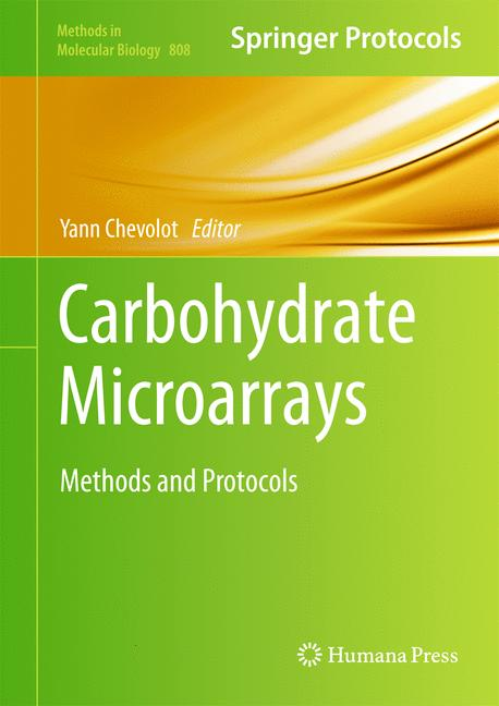 Cover of 'Carbohydrate Microarrays'