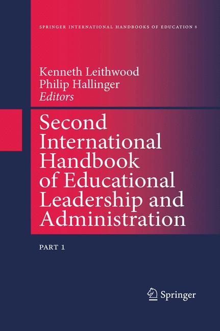 Cover of 'Second International Handbook of Educational Leadership and Administration'