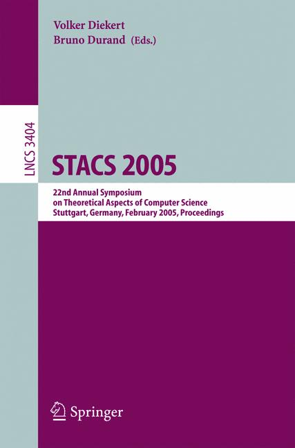 Cover of 'STACS 2005'