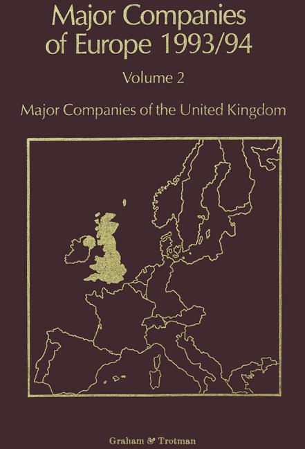 Cover of 'Major Companies of Europe 1993/94'