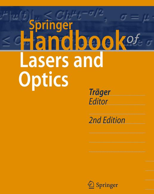 Cover of 'Springer Handbook of Lasers and Optics'