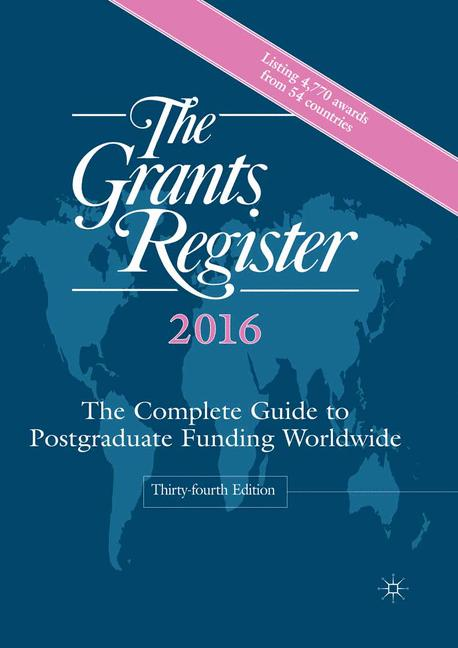 Cover of 'The Grants Register 2016'