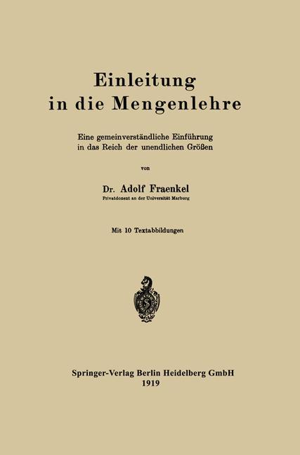 Cover of 'Einleitung in die Mengenlehre'