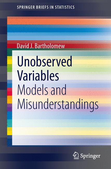 Cover of 'Unobserved Variables'