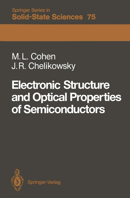 Cover of 'Electronic Structure and Optical Properties of Semiconductors'