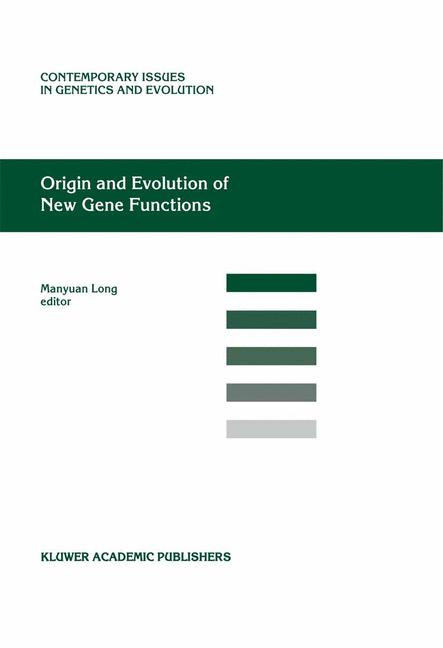 Cover of 'Origin and Evolution of New Gene Functions'