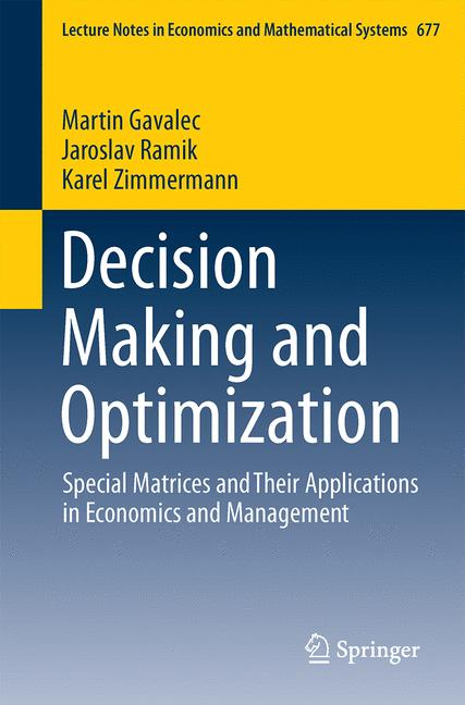 Cover of 'Decision Making and Optimization'