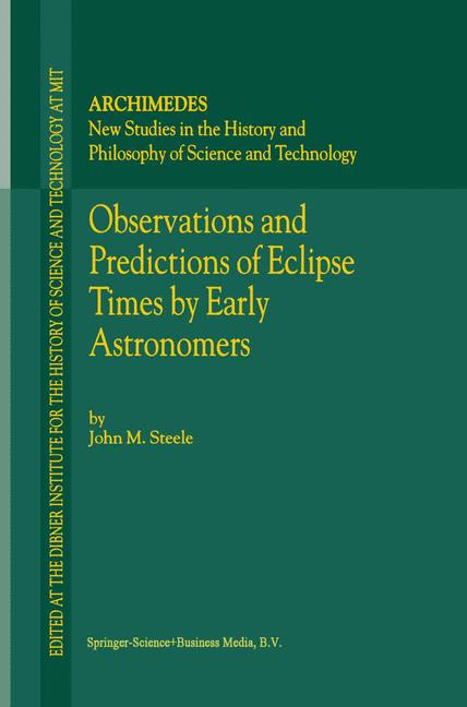 Cover of 'Observations and Predictions of Eclipse Times by Early Astronomers'