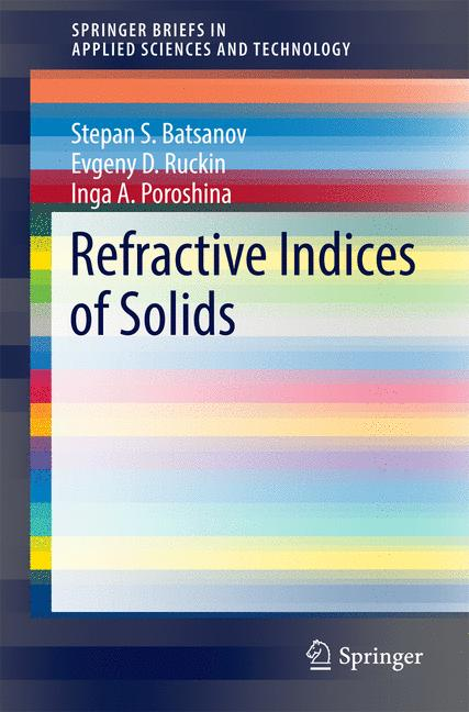 Cover of 'Refractive Indices of Solids'