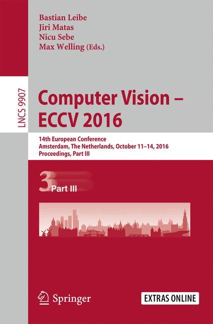 Cover of 'Computer Vision – ECCV 2016'