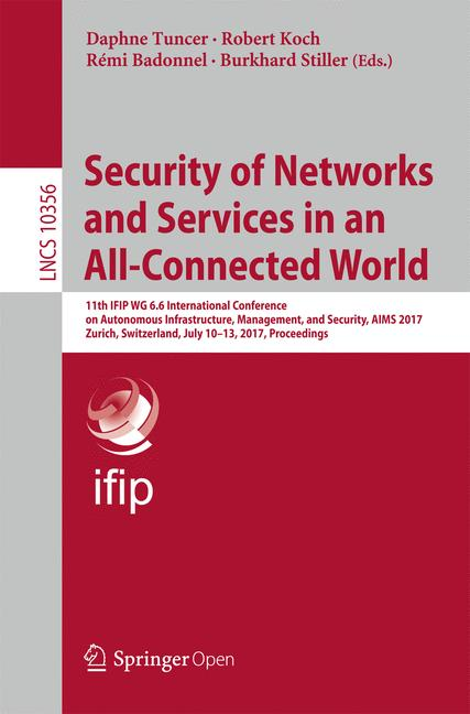 Cover of 'Security of Networks and Services in an All-Connected World'