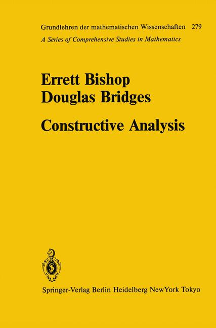 Cover of 'Constructive Analysis'