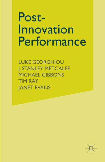 Cover of 'Post-Innovation Performance'