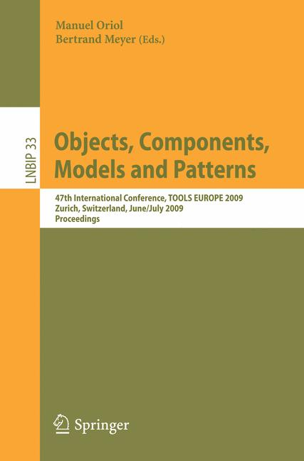 Cover of 'Objects, Components, Models and Patterns'