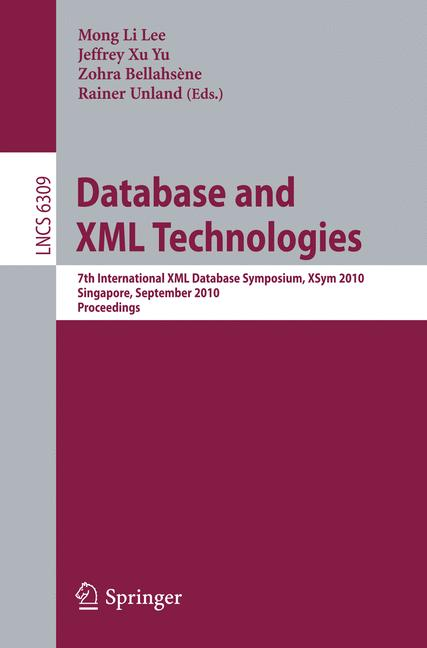 Cover of 'Database and XML Technologies'