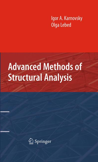 Cover of 'Advanced Methods of Structural Analysis'