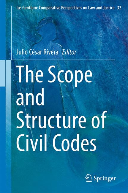 Cover of 'The Scope and Structure of Civil Codes'