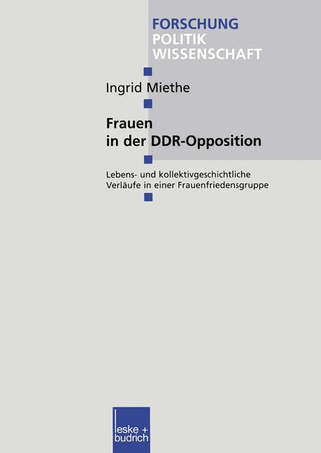 Cover of 'Frauen in der DDR-Opposition'