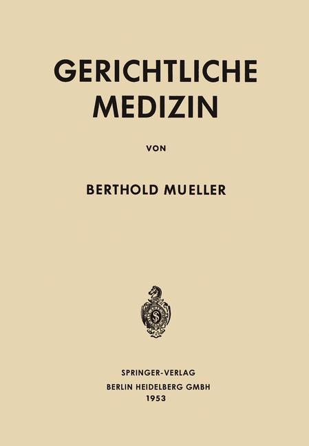Cover of 'Gerichtliche Medizin'