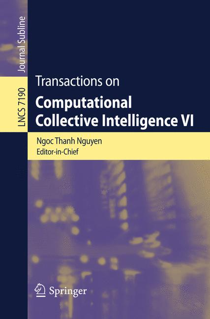 Cover of 'Transactions on Computational Collective Intelligence VI'