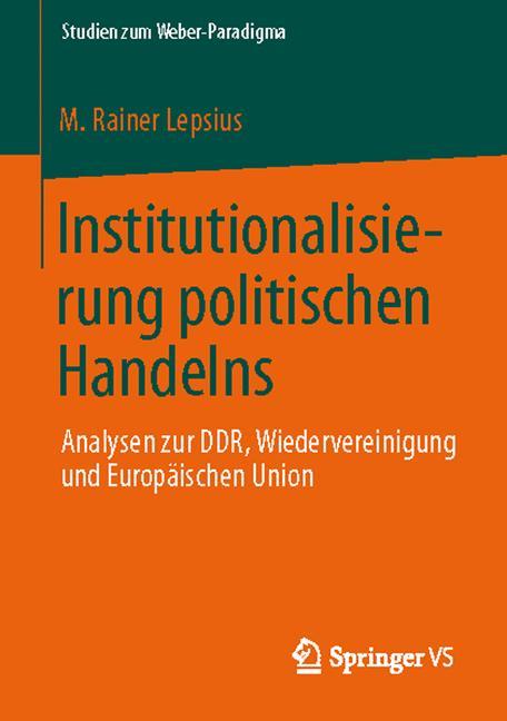 Cover of 'Institutionalisierung politischen Handelns'