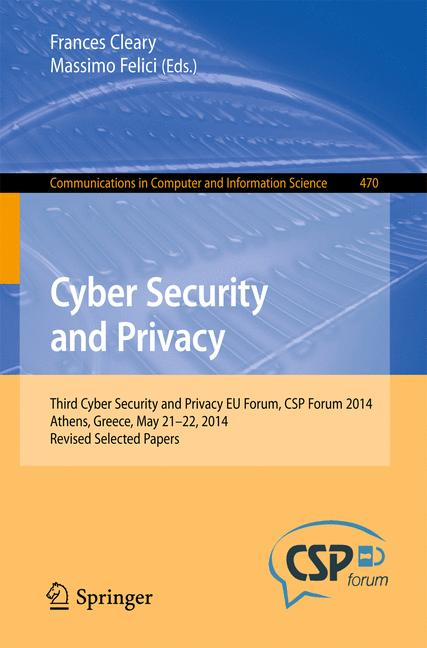 Cover of 'Cyber Security and Privacy'