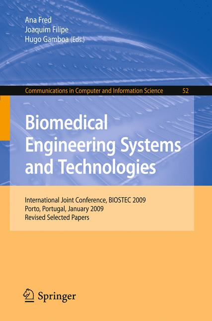 Cover of 'Biomedical Engineering Systems and Technologies'