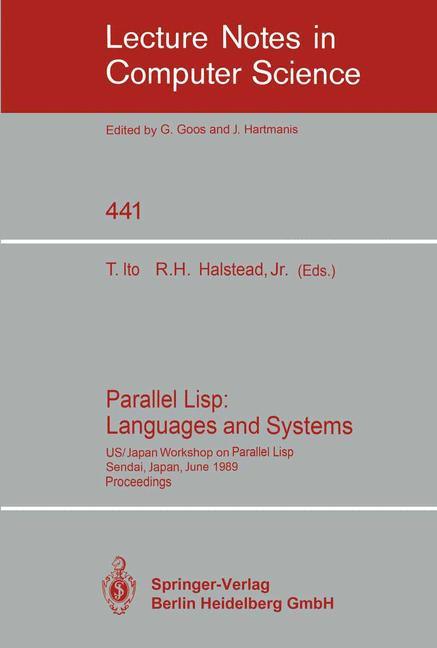 Cover of 'Parallel Lisp: Languages and Systems'