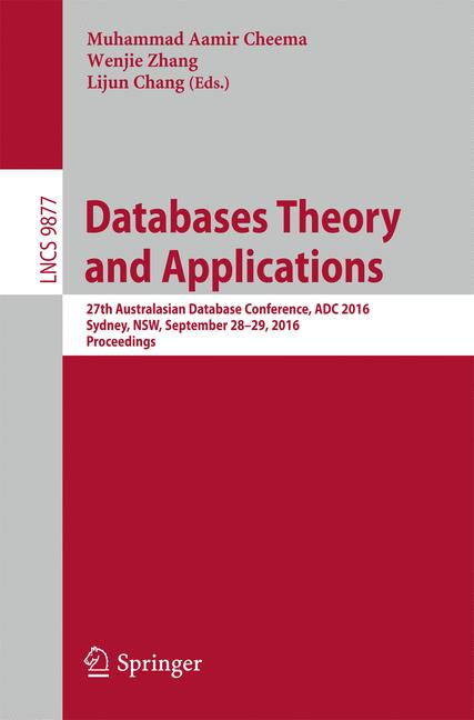 Cover of 'Databases Theory and Applications'