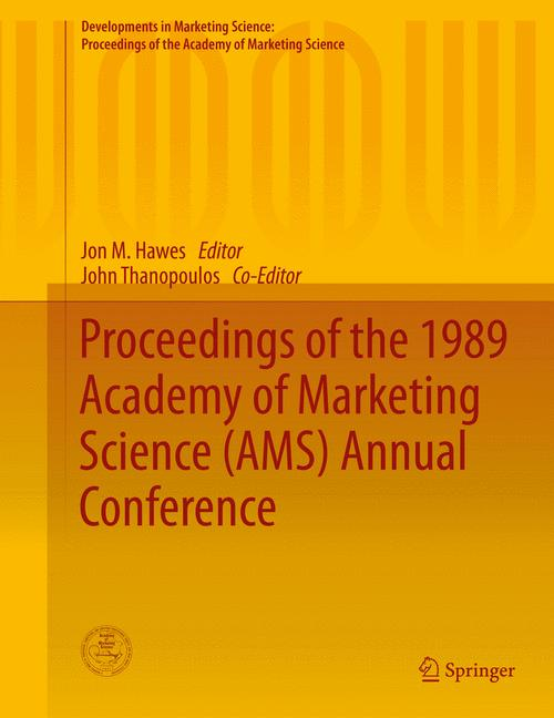 Cover of 'Proceedings of the 1989 Academy of Marketing Science (AMS) Annual Conference'