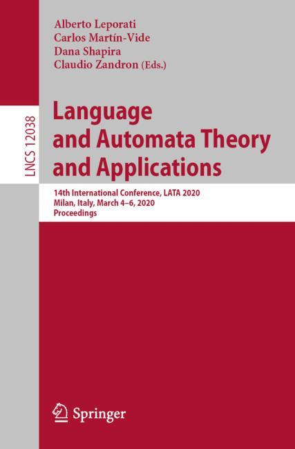Cover of 'Language and Automata Theory and Applications'