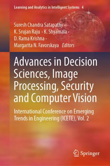 Cover of 'Advances in Decision Sciences, Image Processing, Security and Computer Vision'