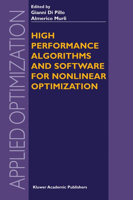 Cover of 'High Performance Algorithms and Software for Nonlinear Optimization'