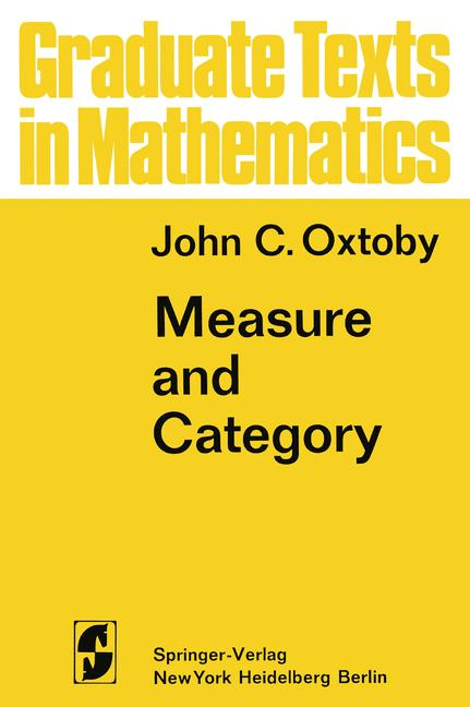 Cover of 'Measure and Category'