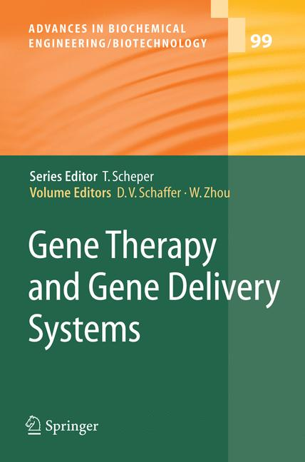 Cover of 'Gene Therapy and Gene Delivery Systems'