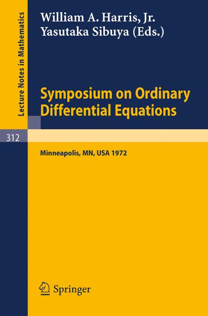 Cover of 'Symposium on Ordinary Differential Equations'