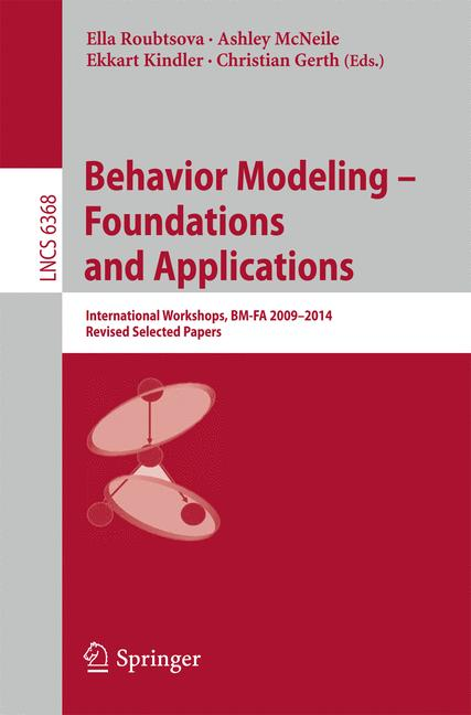 Cover of 'Behavior Modeling -- Foundations and Applications'