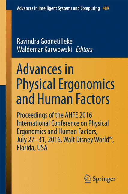 Cover of 'Advances in Physical Ergonomics and Human Factors'