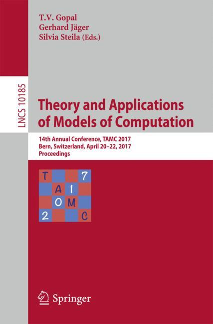 Cover of 'Theory and Applications of Models of Computation'