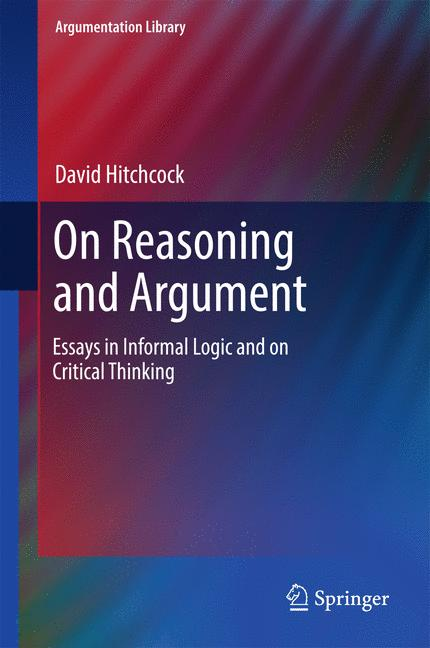 Cover of 'On Reasoning and Argument'