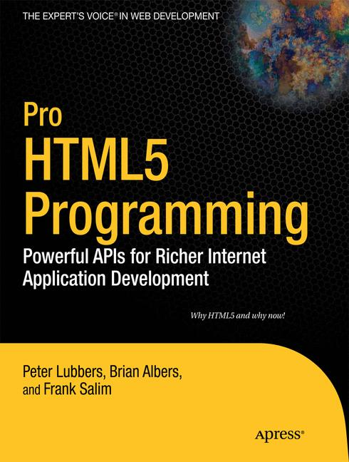 Cover of 'Pro HTML5 Programming'