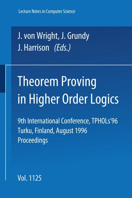 Cover of 'Theorem Proving in Higher Order Logics'