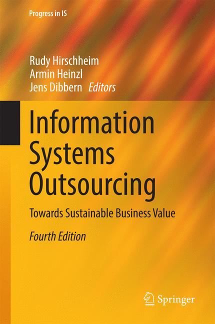 Cover of 'Information Systems Outsourcing'