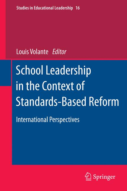 Cover of 'School Leadership in the Context of Standards-Based Reform'