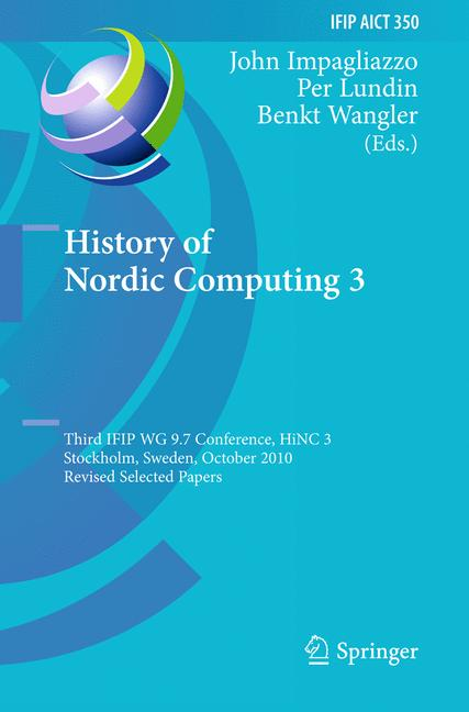 Cover of 'History of Nordic Computing 3'