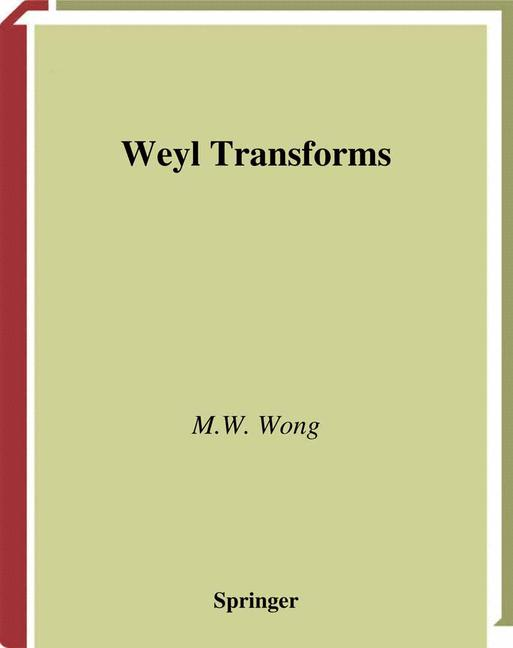 Cover of 'Weyl transforms'