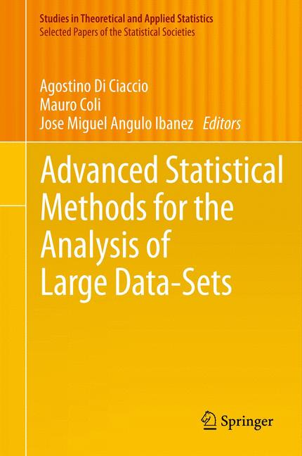 Cover of 'Advanced Statistical Methods for the Analysis of Large Data-Sets'